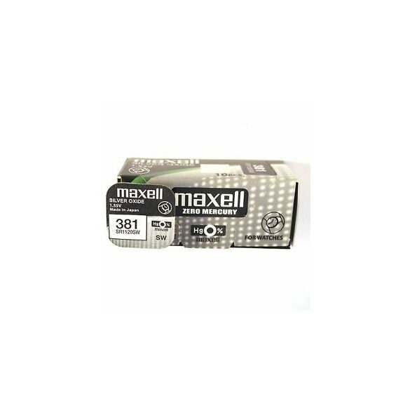 Maxell 381 ezüst oxid gombelem (SR1120,) 1,55V