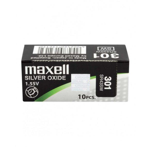 Maxell 301,386 ezüst oxid gombelem (SR43SW,1132,386) 1,55V