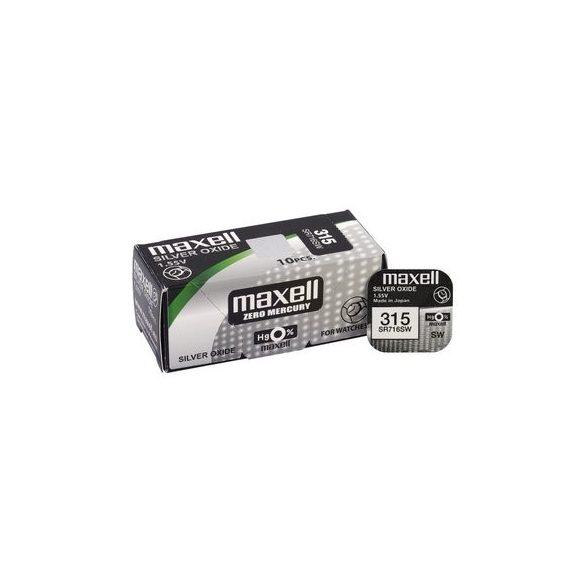 Maxell 315,314 ezüst oxid gombelem (SR716SW,314) 1,55V