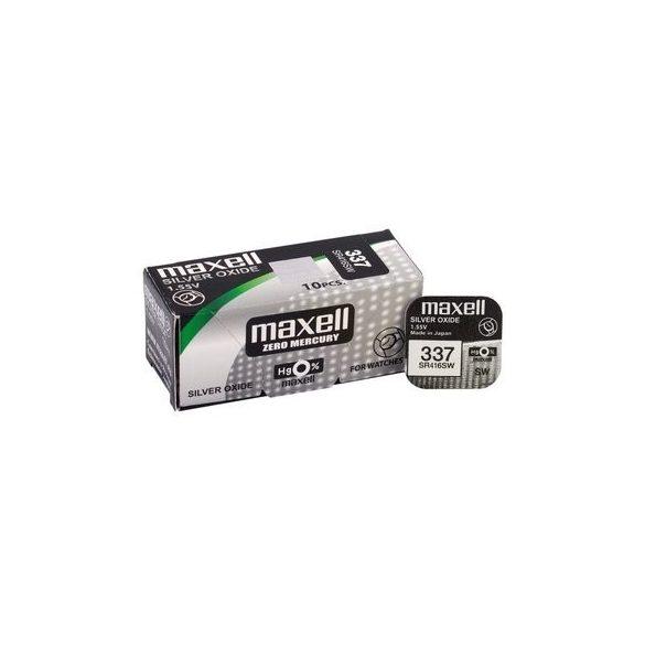 Maxell 337 ezüst oxid gombelem (SR416) 1,55V