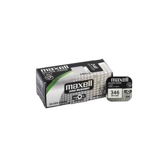 Maxell 346 ezüst oxid gombelem (SR712) 1,55V