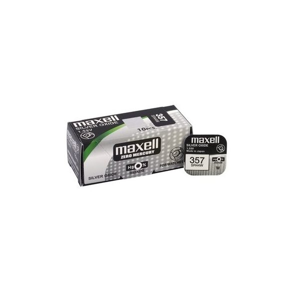 Maxell 357,303 ezüst oxid gombelem (SR44,R1154) 1,55V