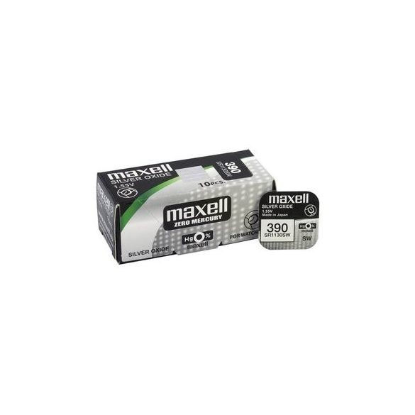 Maxell 390,389 ezüst oxid gombelem (SR54,SR1130) 1,55V