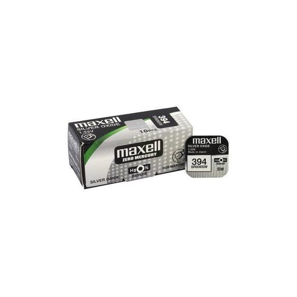 Maxell 394,380 ezüst oxid gombelem (SR45,SR936) 1,55V