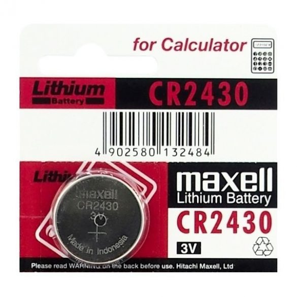 Maxell CR2430 3V lithium elem bl/5