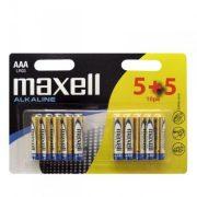 Maxell mikro AAA (LR03) alkáli elem bl/5+5