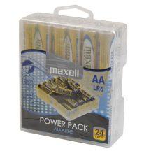 Maxell ceruza AA (LR6) alkáli elem 24db Power Pack