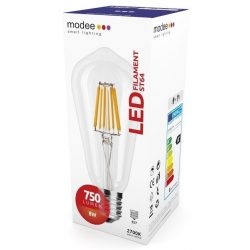 MODEE LED FILAMENT ST64 8W E27 360° 2700K (750 LUMEN)