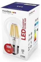 MODEE LED FILAMENT GLOBE A60 6W E27 360° 2700K (550 LUMEN)