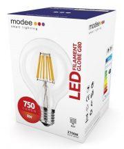 MODEE LED FILAMENT GLOBE G80 8W E27 360° 2700K (750 LUMEN)