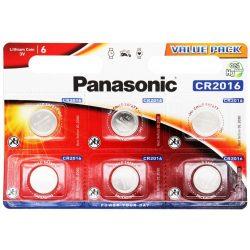 Panasonic CR2016 lithium elem 3V bl/6