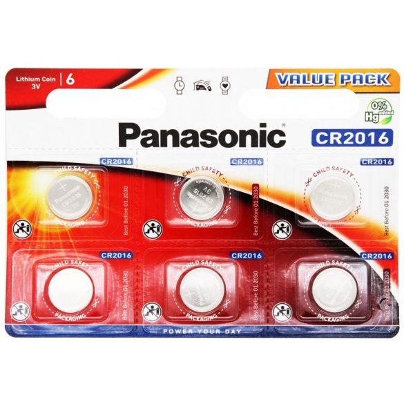 3V Panasonic lithium elem CR2016 bl/6