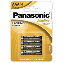 Panasonic ALKALINE Power mikró elem,AAA,LR03, bl/4