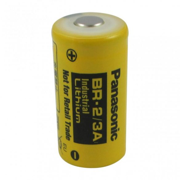 Panasonic BR 2/3A 3V lithium elem (34x17mm) 1200mAh