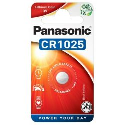 Panasonic CR1025 lithium elem  3V BL/1