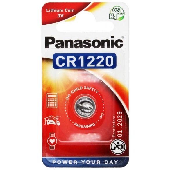 Panasonic CR1220 lithium elem  3V bl/1