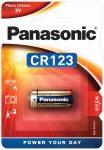 Panasonic CR123 lithium elem 3V bl/1