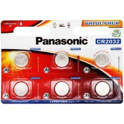 Panasonic CR2032 lithium elem 3V bl/6