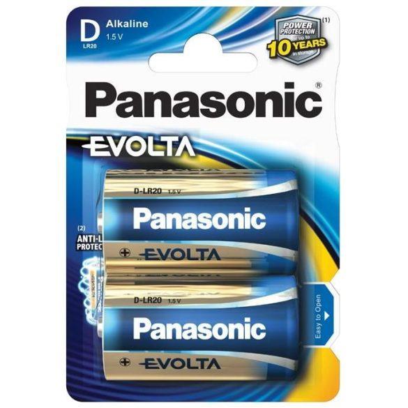 Panasonic Evolta LR20,D, alkáli góliát elem BL/2