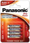 Panasonic Pro Power LR03,AAA, alkáli mikró elem BL/4