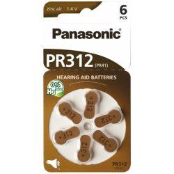 """Panasonic PR41 """"312"""" hallókészülék elem BL/6"""