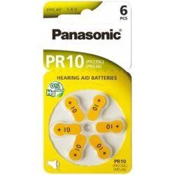 """Panasonic PR70 """"10"""" hallókészülék elem BL/6"""