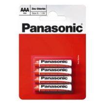 Panasonic Zinc féltartós elem mikró AAA (R03)bl/4