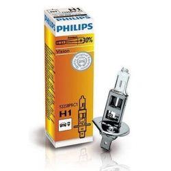 Philips H1 VISION autó izzó 12V 55W +30% fény!