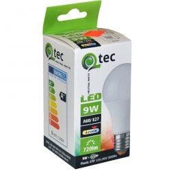 Qtec LED E27 9W A60 4200K (semleges fehér) 720lm