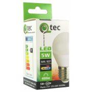 Qtec LED E27 5W G45 4200K (semleges fehér) 400lm