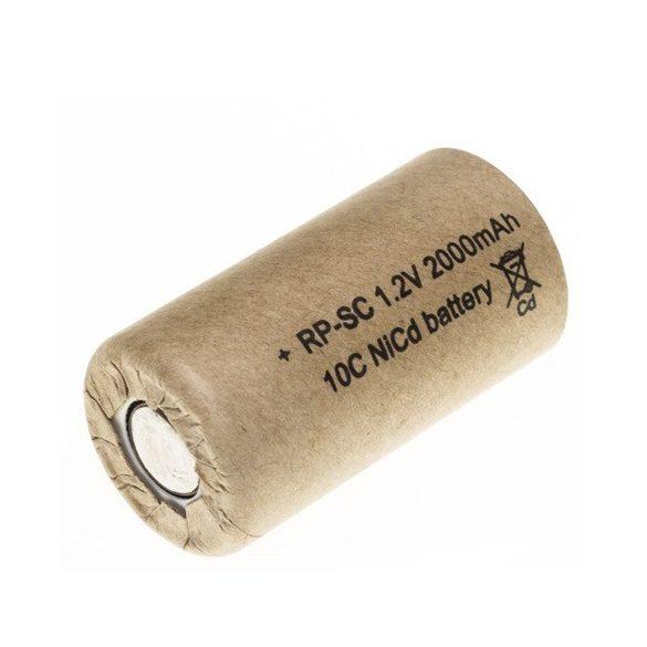 RP akku Ni-Cd 1,2V/2000mAh SC,nagyáramú