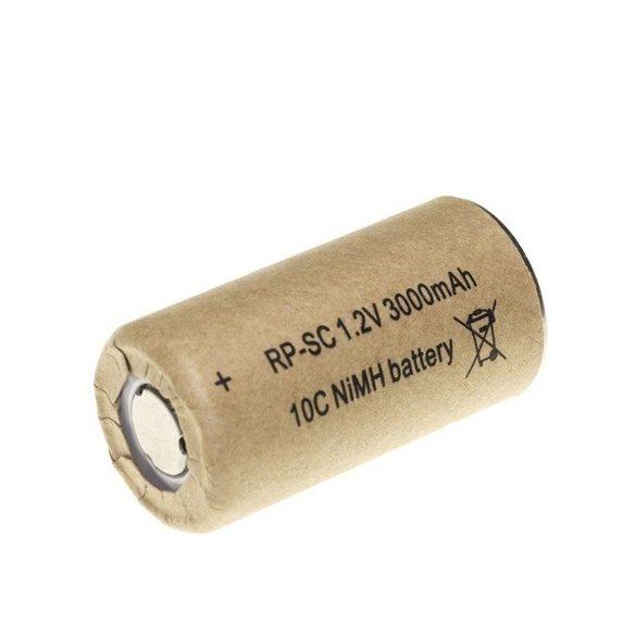RP SC 3000 Ni-Mh ipari akku 1,2V 3000mAh 43x23mm nagy áramú (10C)
