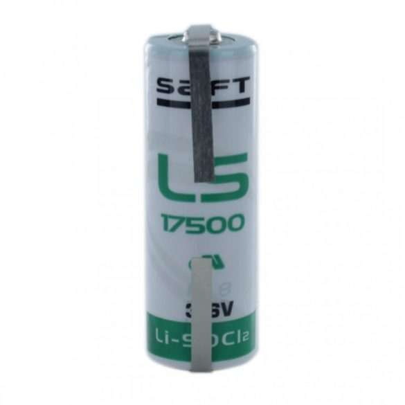 "SAFT lithium elem 3,6V A  LS17500 ""U"" forrfüllel"