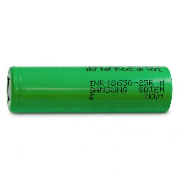 SAMSUNG 18650-25R Li-ion 3,7V  ipari akku 2500 mAh  20A