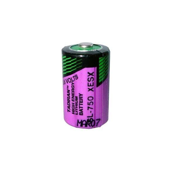 Tadiran SL750 (LS14250) 3,6V lithium elem 1/2 ceruza (1/2AA)