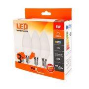 TRIXLINE LED Gyertya C35 6W E14 2700K 480 lumen 3db-os KISZERELÉS!