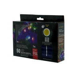 TRIXLINE karácsonyi fényfüzér TR313 SOLAR 50 LED 7 méter,színes,kültéri
