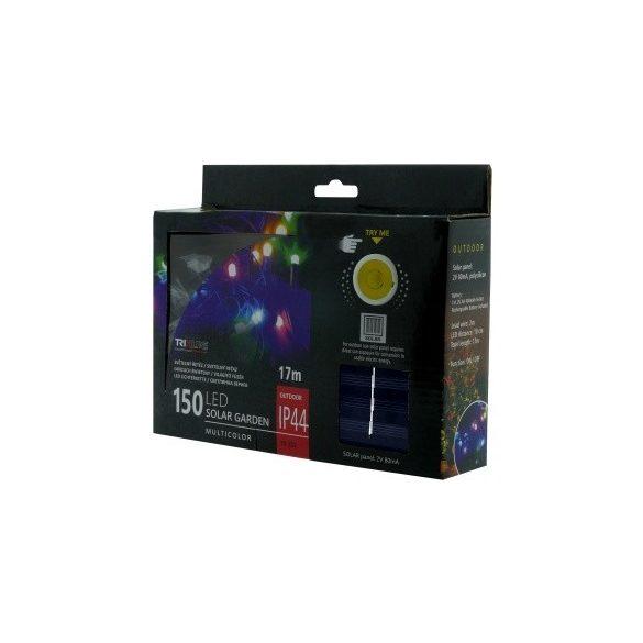 TRIXLINE karácsonyi fényfüzér TR333 SOLAR 150 LED 17 méter,színes,kültéri