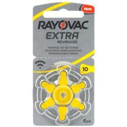 Varta Rayovac Extra Advanced hallókészülék elem 10 (PR70)bl/6 1,45V