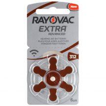 1,45V Varta Rayovac Acoustic hallókészülék elem 312 (PR41)bl/6