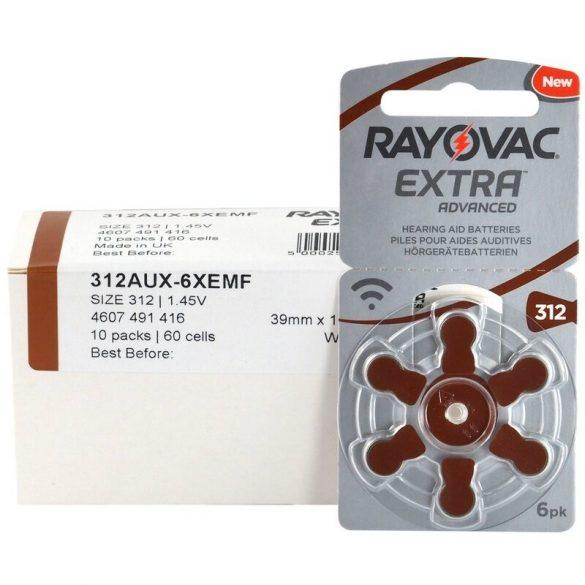 Varta Rayovac Extra Advanced hallókészülék elem 312 (PR41)bl/6 1,4V