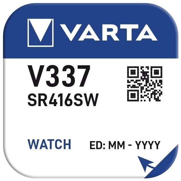 1,55V Varta ezüst oxid gombelem V337 (SR41) bl/1