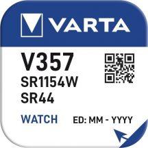 1,55V Varta ezüst oxid gombelem V357,SR44 bl/1