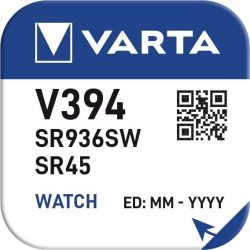 1,55V Varta ezüst oxid gombelem V394,SR45 bl/1