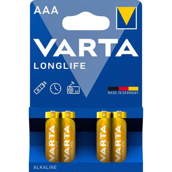 Varta Longlife AAA mikró elem (LR03) bl/4