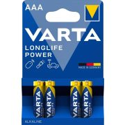 Varta Longlife Power (High Energy) AAA mikró elem (LR03) BL/4