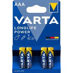 Varta Longlife Power (High Energy) AAA mikró elem (LR03) BL/4