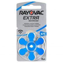 1,45V Varta Rayovac Acoustic hallókészülék elem 675 (PR44)bl/6