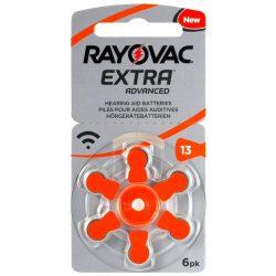 Varta Rayovac Extra Advanced hallókészülék elem 13 (PR48)bl/6 1,45V