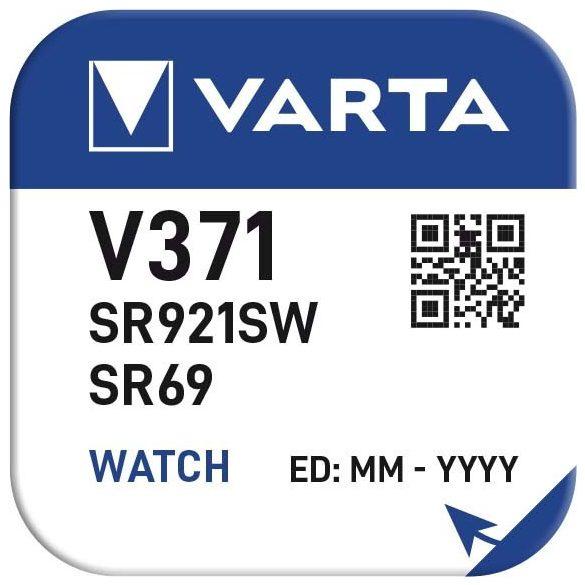 1,55V Varta ezüst oxid gombelem V371 SR920SW bl/1